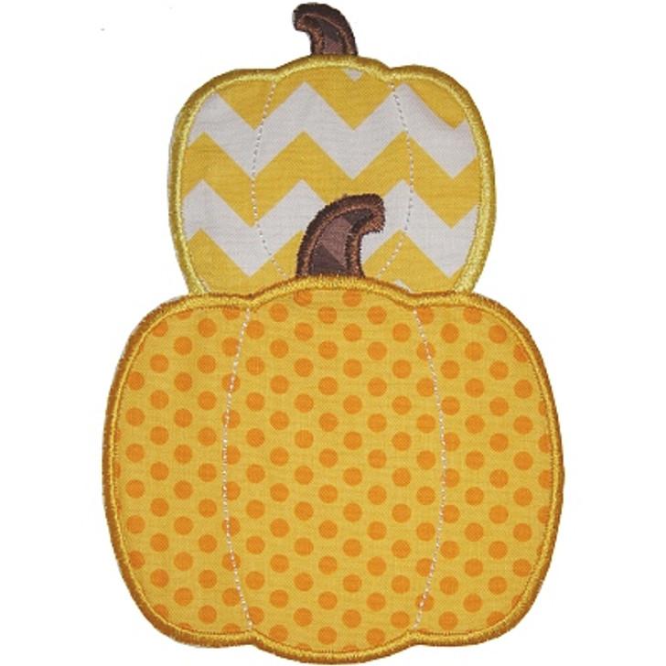 Stacked Pumpkins Applique