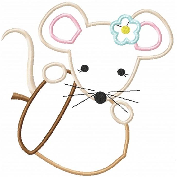 Mouse and Acorn Applique