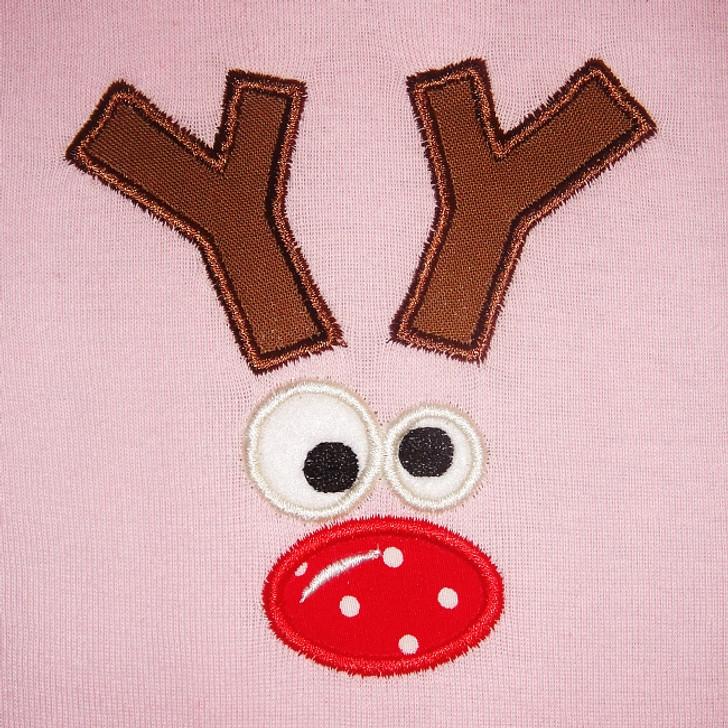 Reindeer Face 2 Applique