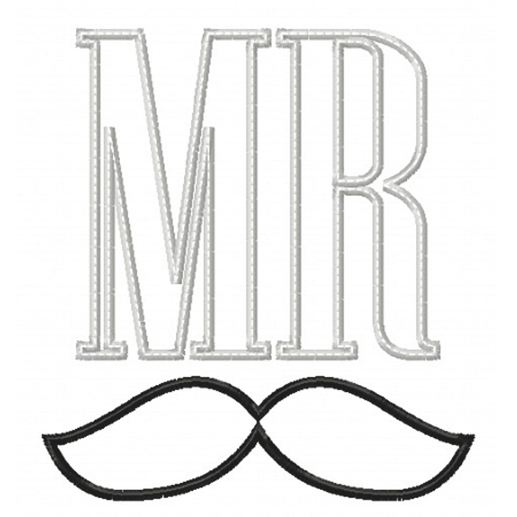 Mr and Mrs Applique Set