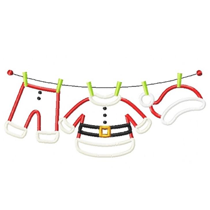 Santas Laundry Applique