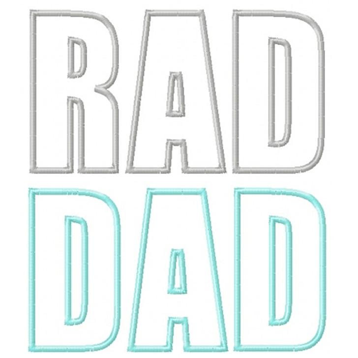 Rad Dad Applique