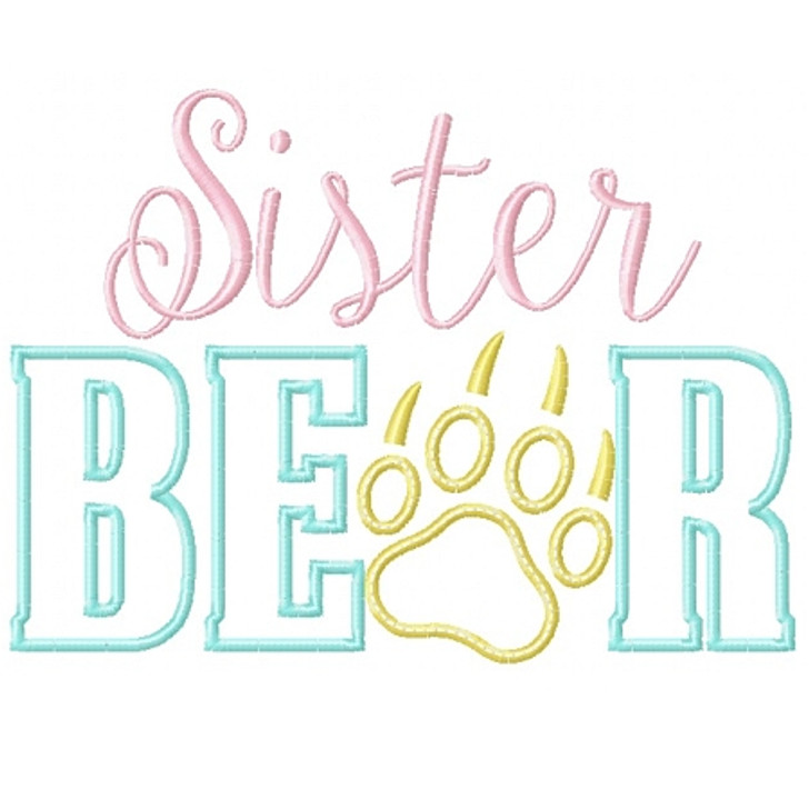 Sister Bear Applique