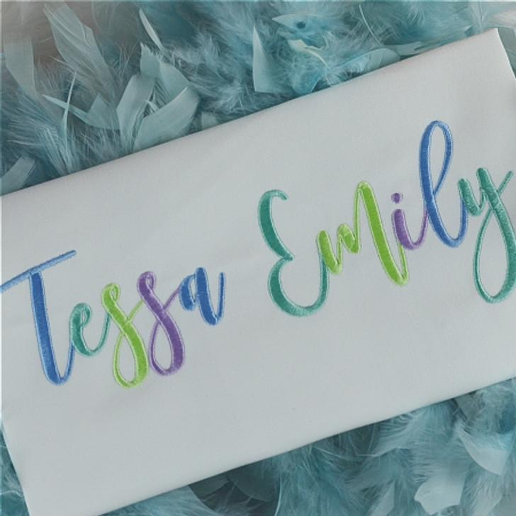Tessa Embroidery Font Set