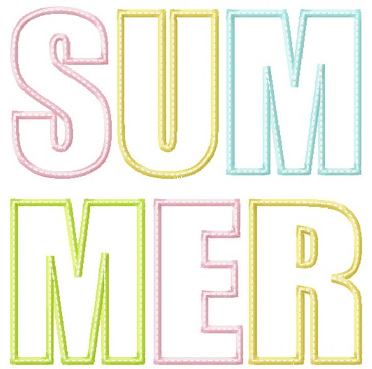 Summer Satin and Zigzag Stitch Applique