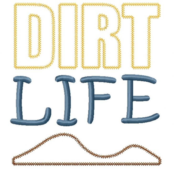 Dirt Life Vintage and Chain Stitch Applique