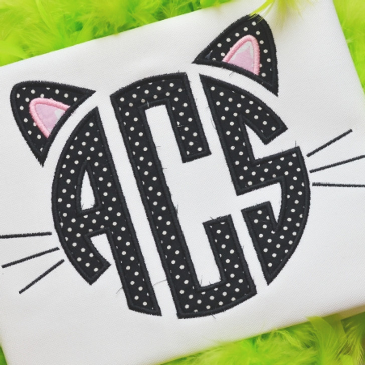 Black Kitty Monogram Alpha