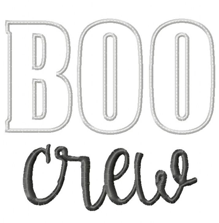Boo Crew Satin and Zigzag Stitch Applique