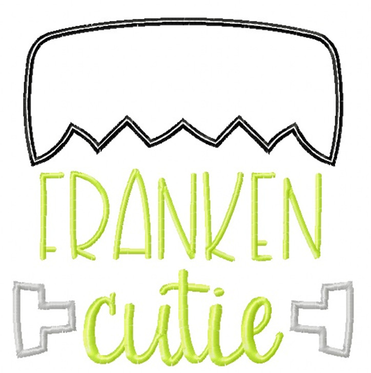 Franken Cutie Satin and Zigzag Stitch Applique
