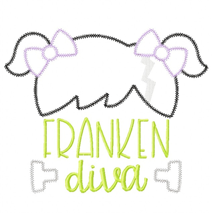 Franken Diva Vintage and Chain Stitch Applique