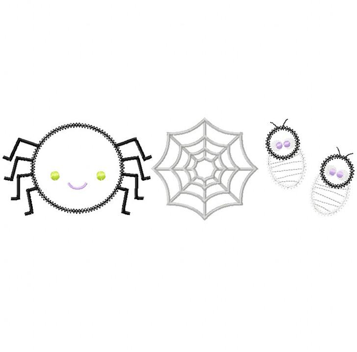 Spider Set Vintage and Chain Stitch Applique