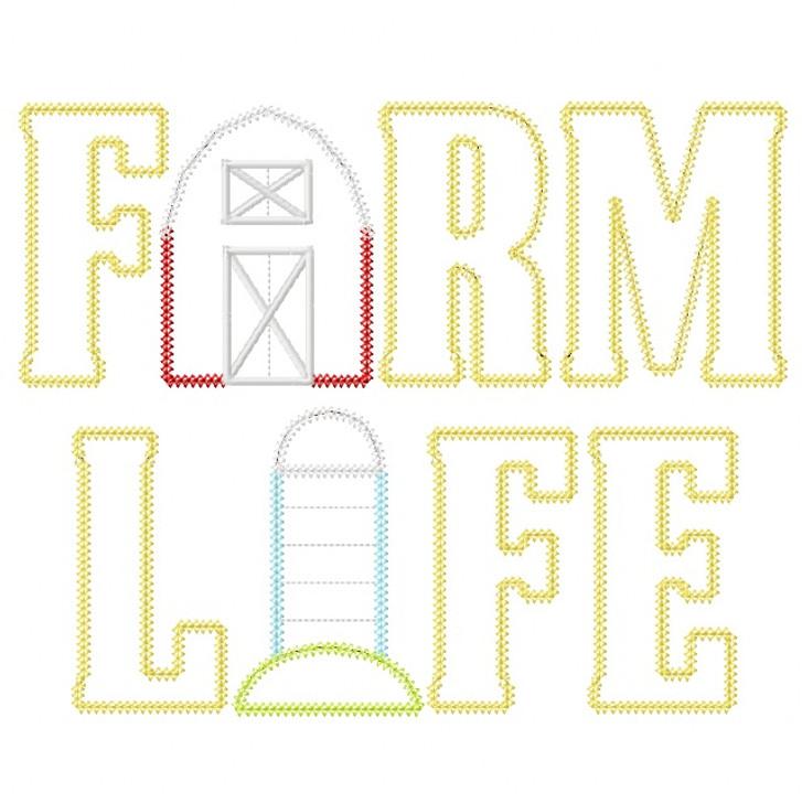 Farm Life 2 Vintage and Chain Stitch Applique