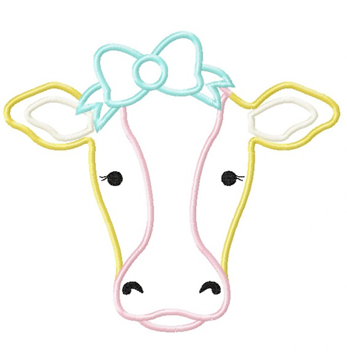Sweet Cow Satin and Zigzag Stitch Applique
