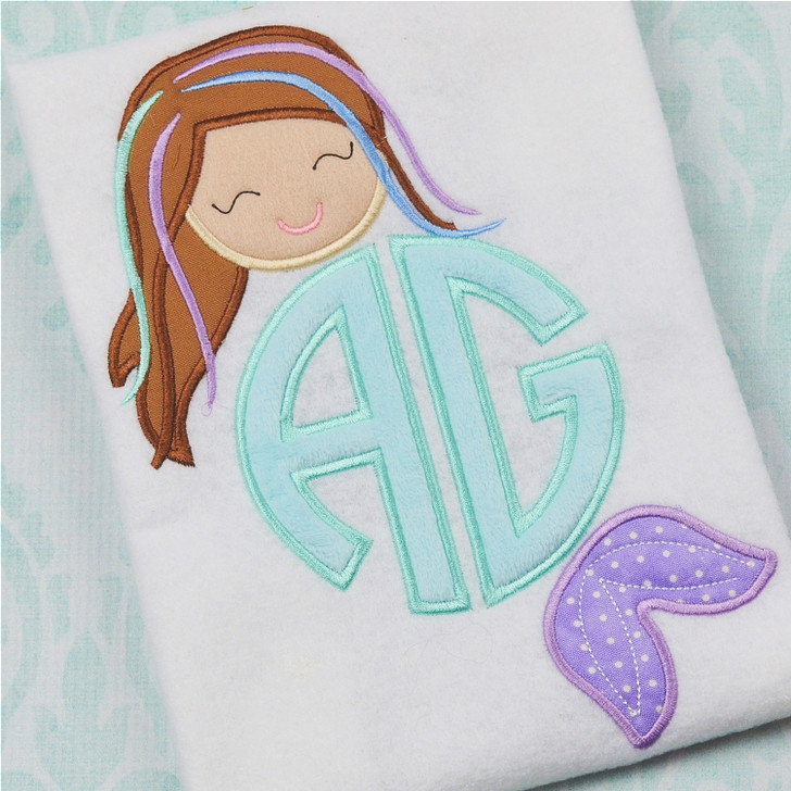 Mermaid Monogram Alpha
