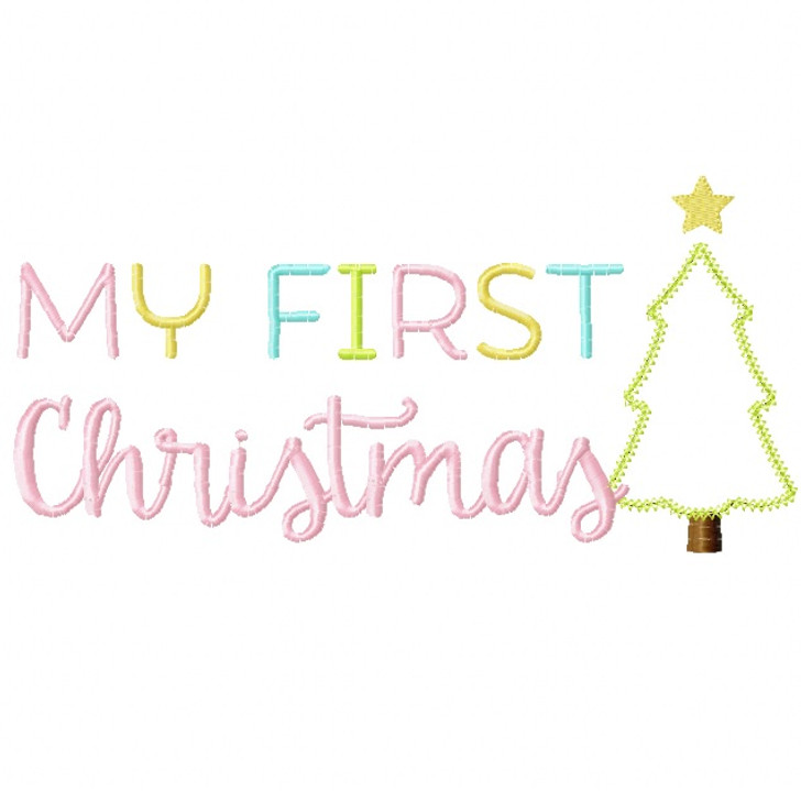 My First Christmas 2 Vintage and Chain Stitch Applique