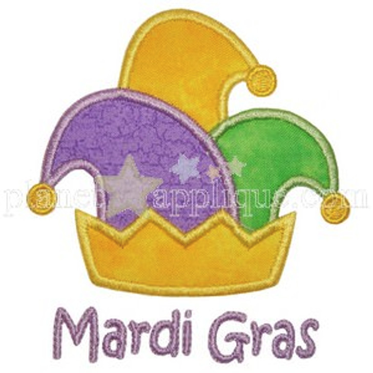 Mardi Gras Hat Applique