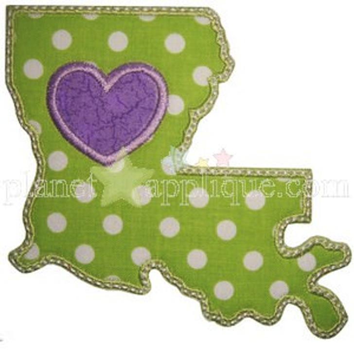 Love Louisiana Applique