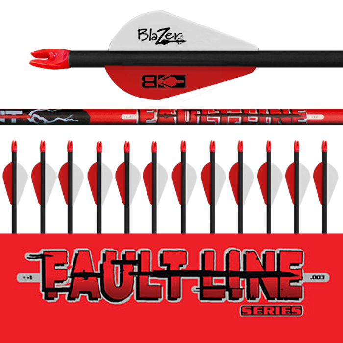 (12) Fletched Fault Line Arrows