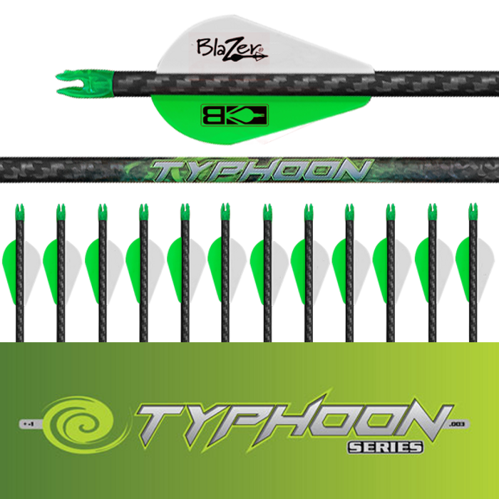 (12) Fletched Typhoon Arrows