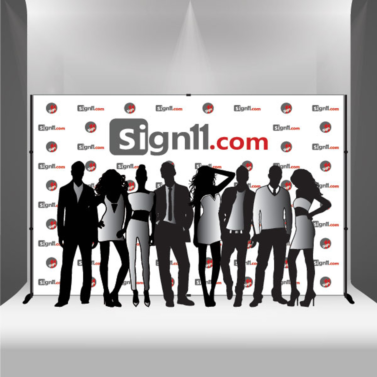 step and repeat 12 x8 stand sign11 com