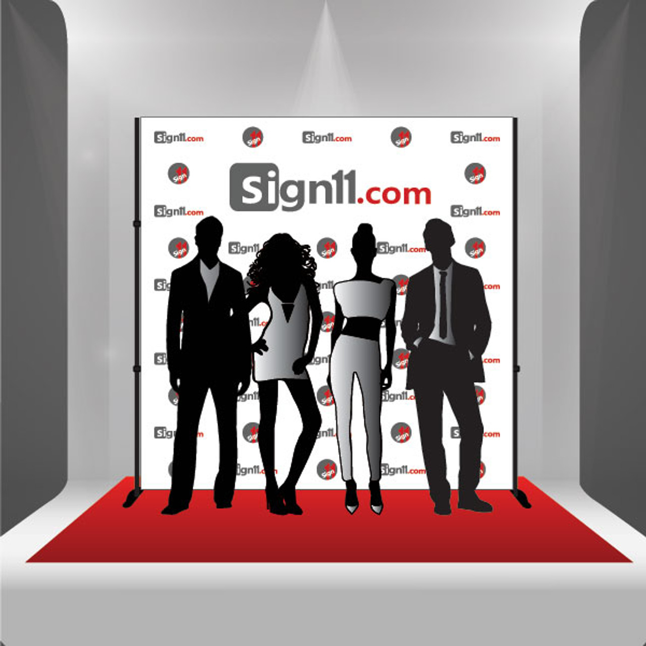 step and repeat 8 x8 stand red carpet sign11 com