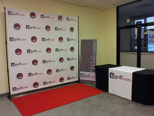 step and repeat 10 x8 stand red carpet sign11 com