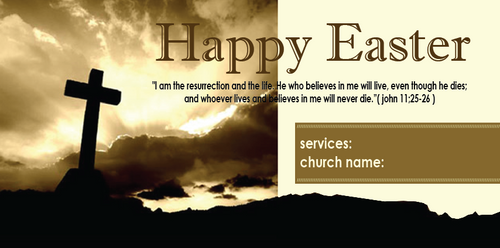Easter Church Banner 509
