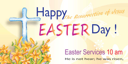 Easter Church Banner 511