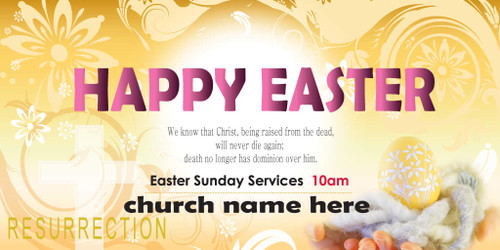 Easter Church Banner 512