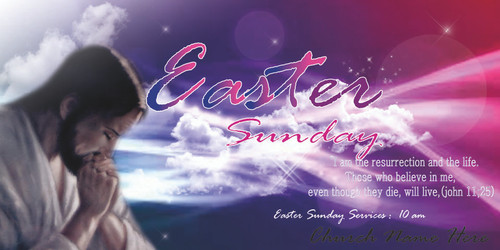 Easter Church Banner 515