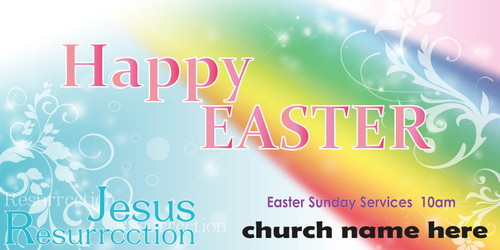 Easter Church Banner 516