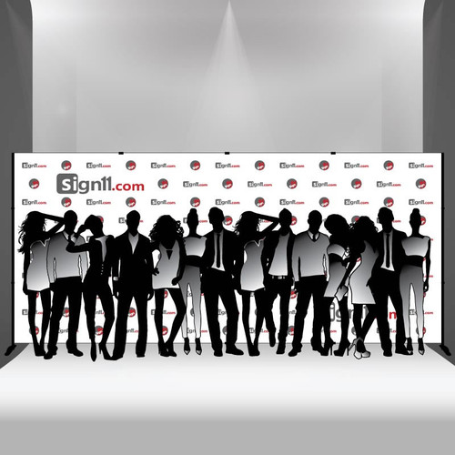 Step and repeat banner 18x8 with stand, Step and Repeat, Step and Repeat Banners, Red Carpet Backdrops, Red Carpet Banners