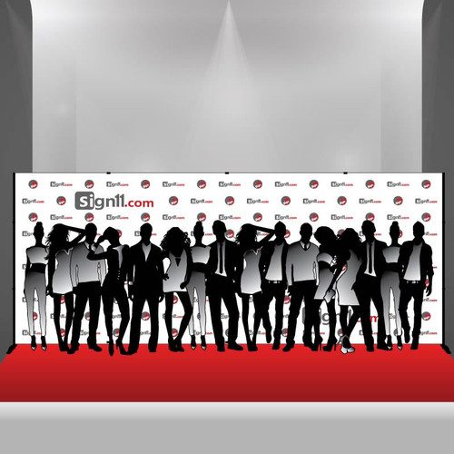Step and Repeat Banner 20x8 with Stand and Red Carpet