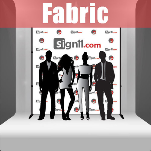 Fabric Step and Repeat Banner with stand 8'x8'