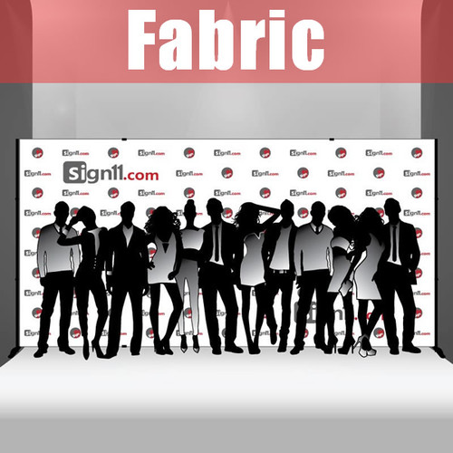 Fabric Step and Repeat Banner with stand 16'x8'