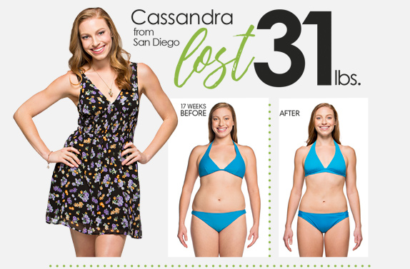 Cassamdra lost 31 lbs. in 17 weeks