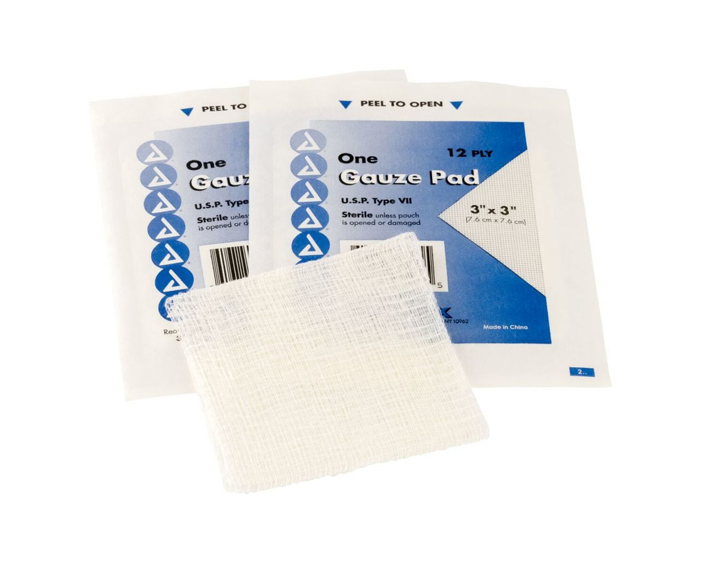 """3""""x3"""" Gauze Pads - qty. 100 