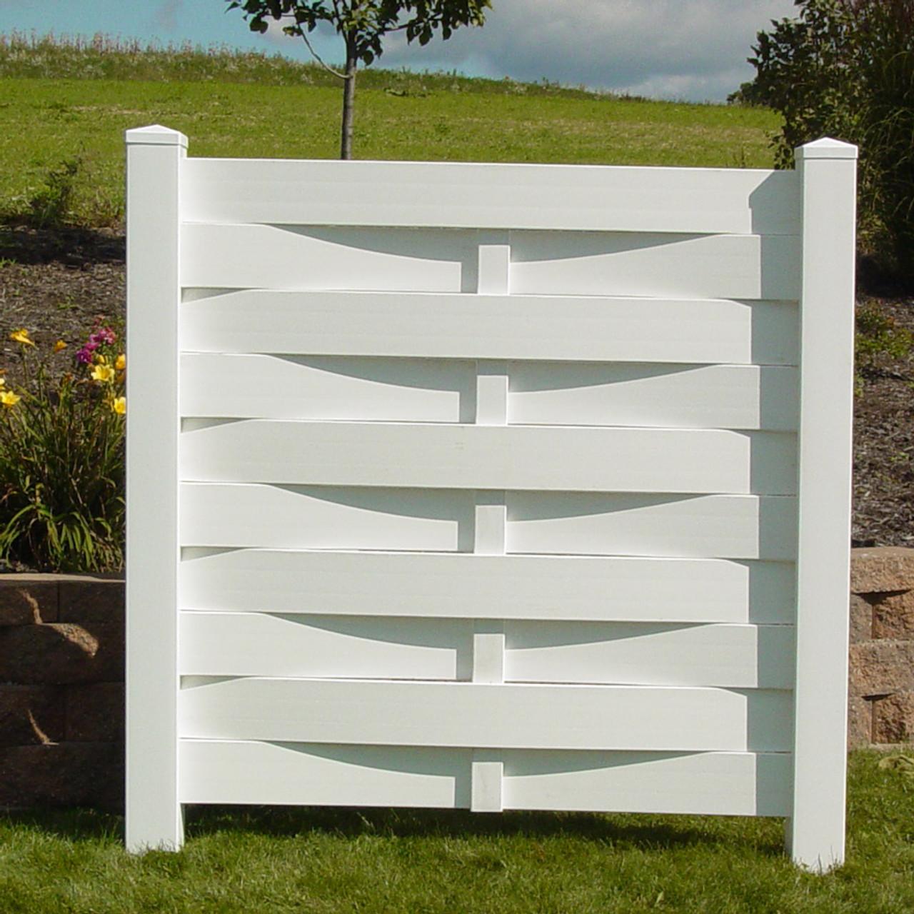 Basket Weave Vinyl Privacy Fence - Kauffman Lawn Furniture