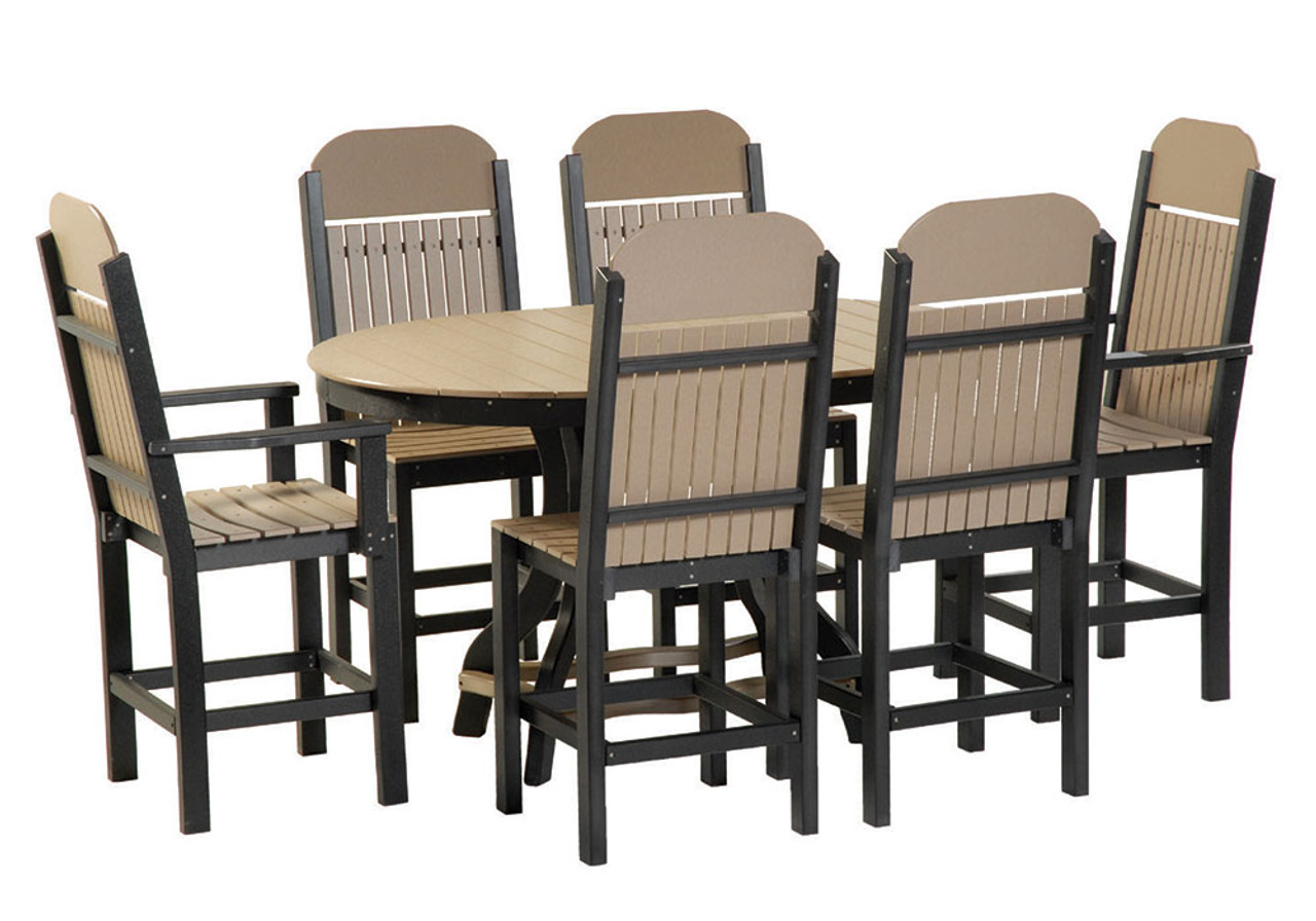 Poly Oblong Balcony Table Set 18  sc 1 st  Kauffman Lawn Furniture & Poly Oblong Balcony Table Set 18 - Kauffman Lawn Furniture