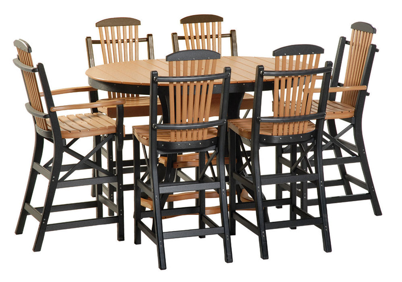 Poly oval pub table set 31 kauffman lawn furniture poly oval pub table set 31 watchthetrailerfo