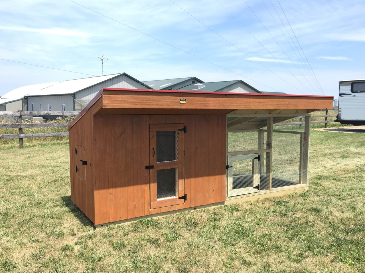 Kt Chicken Coop W Shed Roof Kauffman Lawn Furniture