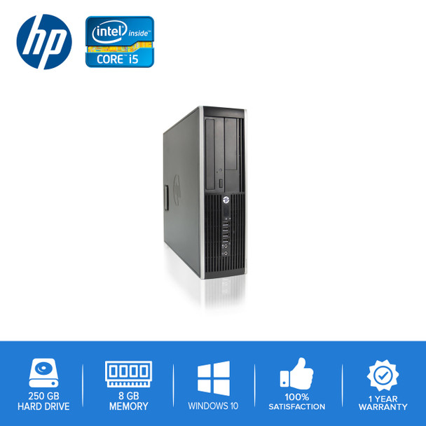 HP-Elite Desktop 8100 8200 Computer PC – Intel Core i5 - 8GB Memory – 250GB Hard Drive - Windows 10