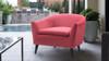 Lia Barrel Chair, Garnet Rose