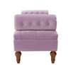 Lewis Bolstered Lounge Entryway Bench, Lavender