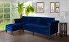 Nathaniel Reversible Chaise Sectional, Navy Blue