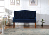 Izzy Tufted Settee, Navy Blue