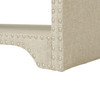 Annabelle Upholstered Entryway Bench, Wood Ash