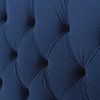 David Tufted Wingback Upholstered Bed, Navy Blue (Queen Size)