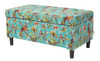Naomi Entryway Storage Bench, Red & Blue