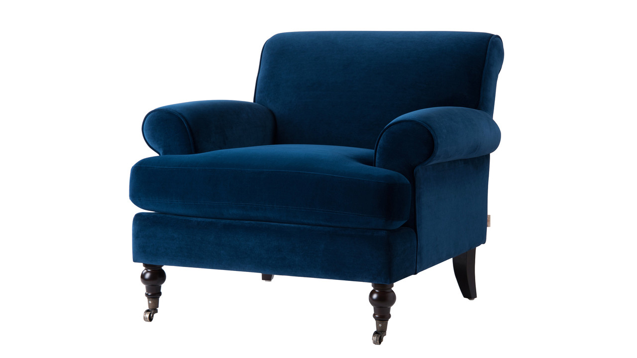 Clarence Lawson Chair Navy Blue Jennifer Taylor Home